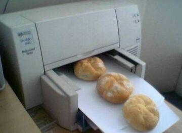 drukowanie bułeczek