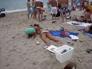 Leże na plaży
