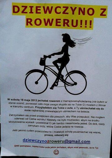 Dziewczyno z roweru!!!!