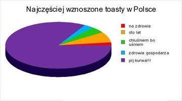 Najczęściej wznoszone toasty przez Polaków