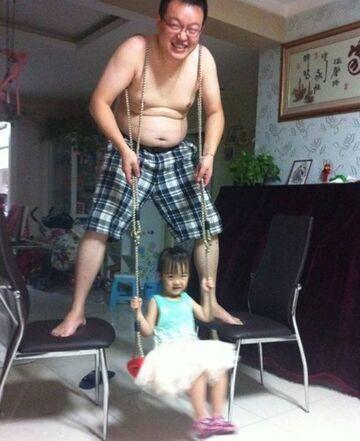 Domowa huśtawka dla dziecka