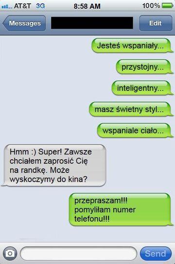 Zaskakujący finał romantycznego SMSa!