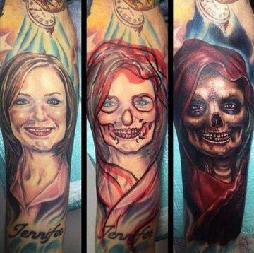 Rzuciła go kobieta... Zobacz co zrobił z tatuażem ukochanej!
