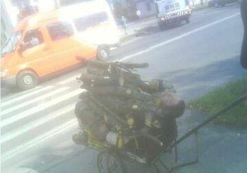 na wózku