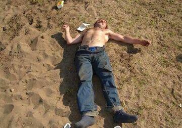 na piasku