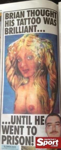 Tatuaż na plecach - Kobiety z piersiami
