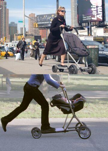 Wózek dziecięcy i hulajnoga