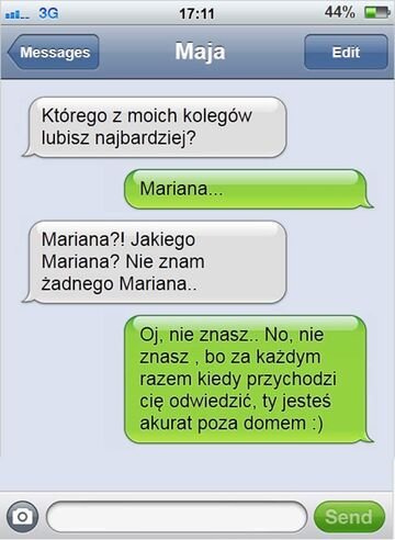 Kim jest Marian?! - Rozmowa SMS