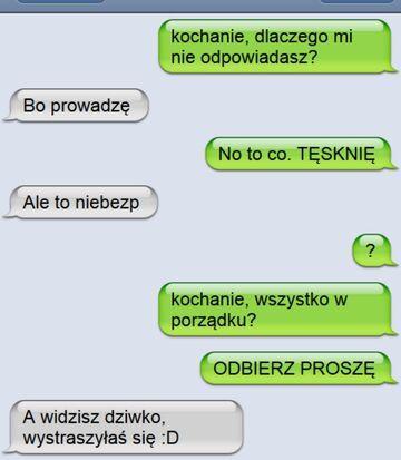 A widzisz dziwko - Rozmowa SMS