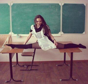 Szpagat na lekcji