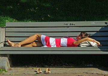 Tymczasem na ławce w parku