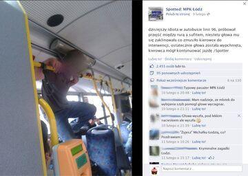 Idiota w autobusie linii 96 - MPK Łódź