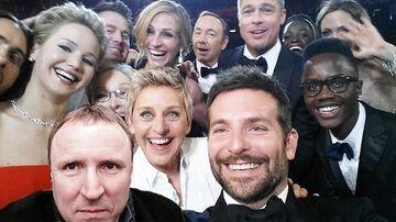 Jacek Kurski na rozdaniu Oscarów