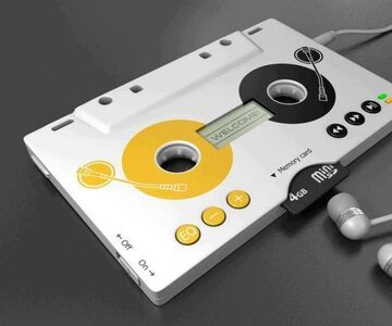 Odtwarzać mp3 w kształcie kasety magnetofonowej