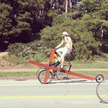Jezus, jaki rower!