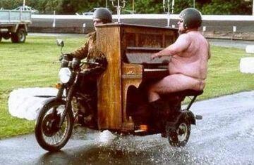 Pianista na motorze