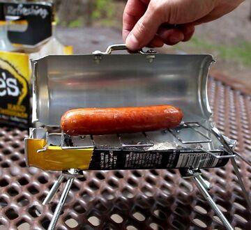 Mini grill z puszki