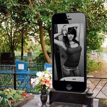 Nagrobek dziewczyny z Rosji - iPhone