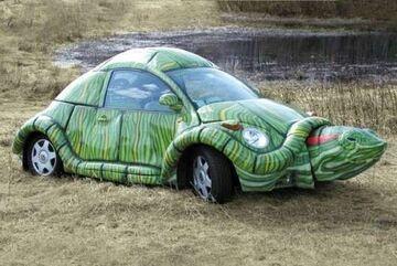 Żółwie auto