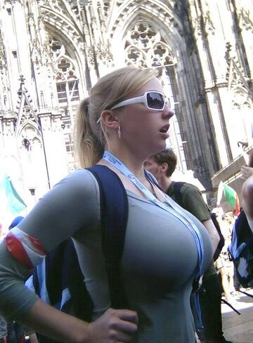 Candid breasts