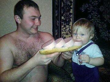 Jak tatuśzrobi kanapkę, to...