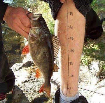 Tattoo - miarka rybaka...