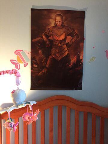 Plakat Pogromców Duchów nad łóżkiem dziecka
