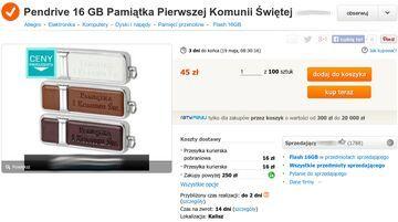 Pendrive 16 GB Pamiątka Pierwszej Komunii Świętej