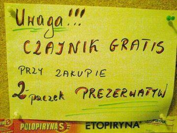"""""""Czajnik gratis"""""""