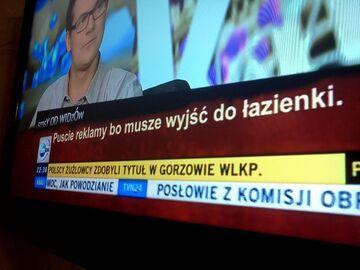 """""""Puśćcie reklamy, bo muszę wyjść do łazienki"""" - TVN24"""