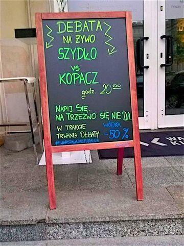 Debata na żywo Szydło vs Kopacz. Wódka -50%