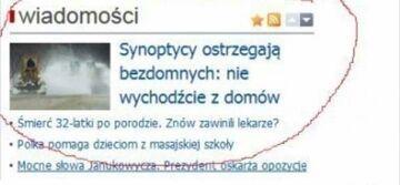 Synoptycy ostrzegają...