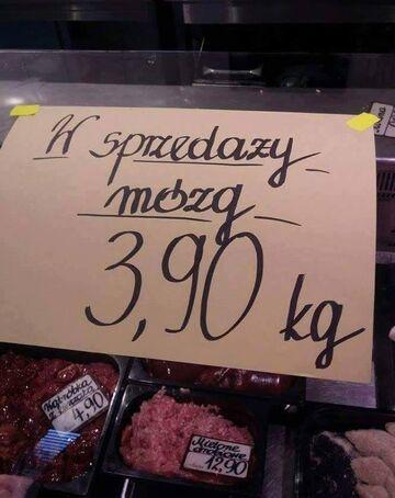 W sprzedaży mózg 3,90 kg