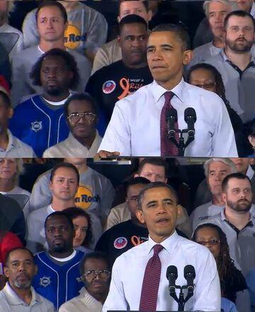 Zdjęcie zrobione w idealnym momencie. Barack Obama
