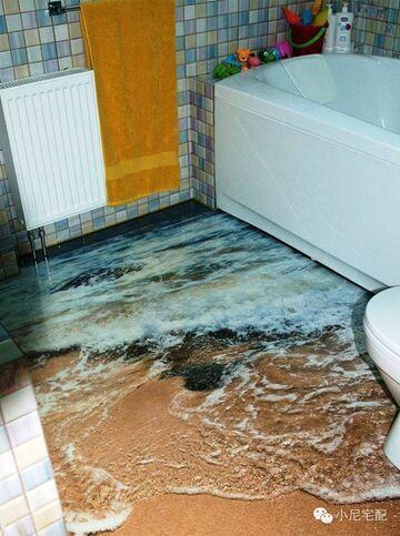 Idealna podłoga 3D do łazienki