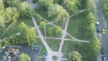 Pentagram wydeptany w parku