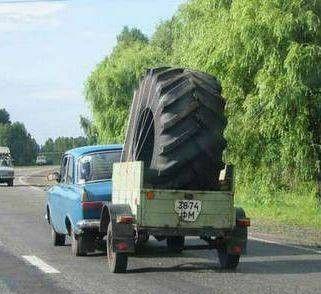 Transport wielkiej opony