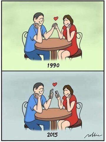 Miłość w 1990 a 2015 r.