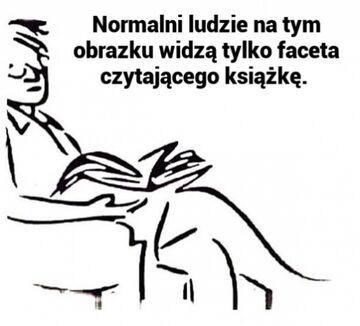 Normalni ludzie na tym obrazku widzę tylko faceta czytającego książkę