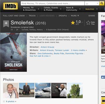 """""""Smoleńsk"""" na IMDb"""