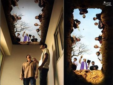 Fototapeta na sufit dla palaczy