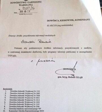 Polscy żołnierze na rozkaz mają oglądać TVP Info?