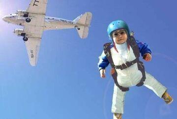 mały spadochroniarz