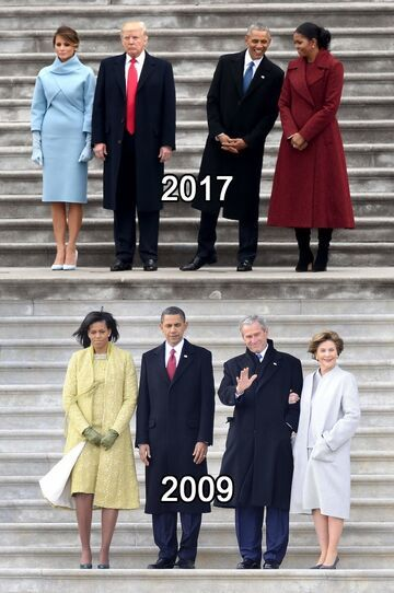 Trump & Obama - 2017 vs 2009