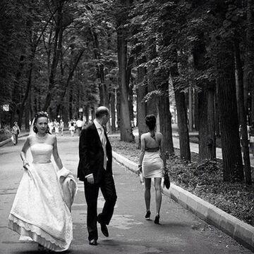 Facet tuż po ślubie!