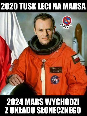2020 Tusk leci na Marsa