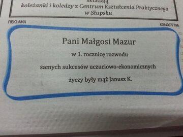 Pani Małgosi Mazur