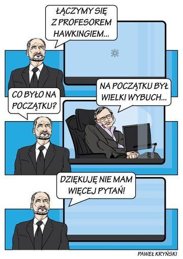 Macierewicz konsultuje się z Hawkingiem