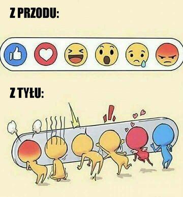 Facebookowe emotki z tyłu