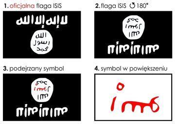 Ukryty symbol we fladze ISIS